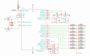 Schematic of my atmega based function generator