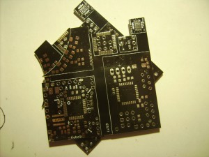 Beautiful black PCBs from factory