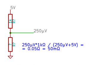 Voltage divider to measure unknown low voltage