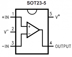 Pin-out of cheap op-amp