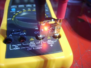 Half Ohm milliohm meter in action