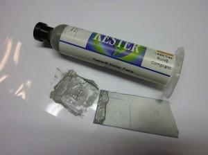 Stencil and solder paste