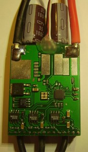 Mainboard of electric speed controller