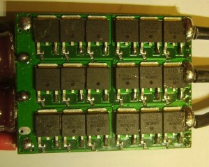 Half of the mosfets in speed controller