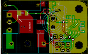 Board layout with high voltage area clearly visible.