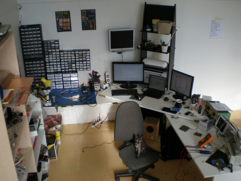 New lab area, with more room.