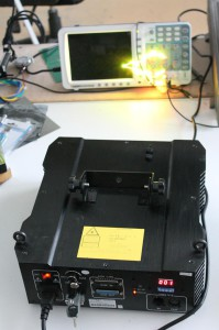 Laser projector, working