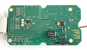 Back side of the PCB