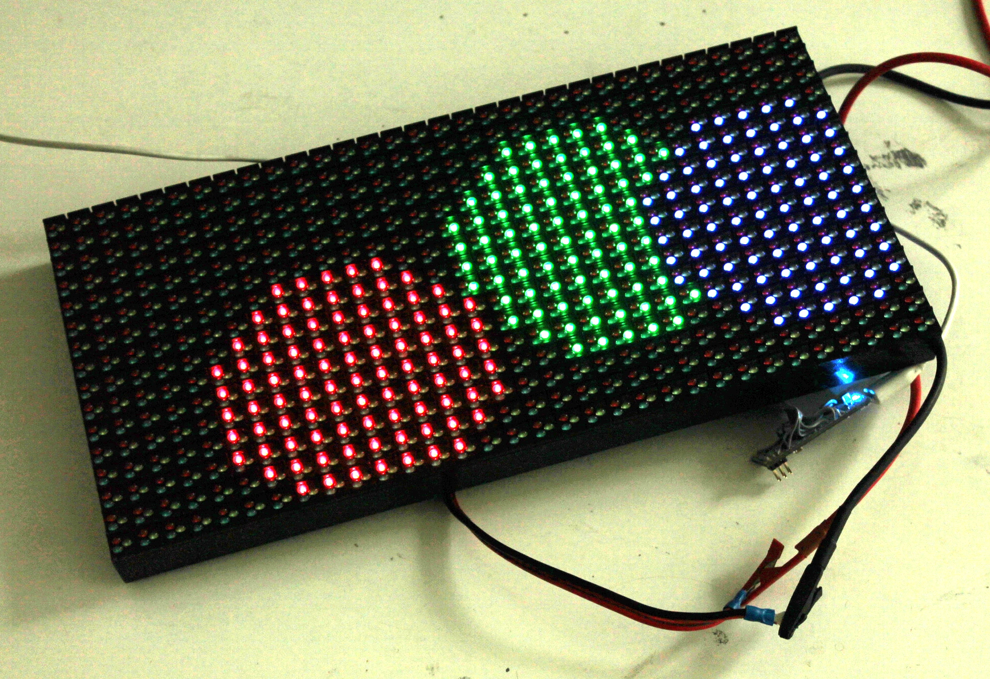 Hub rgb led matrices with arduino projects of jaanus kalde