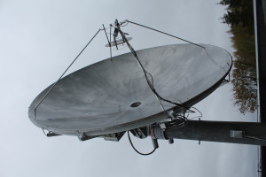 Big ground station for satellites