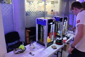 Some bigger delta style 3D printers