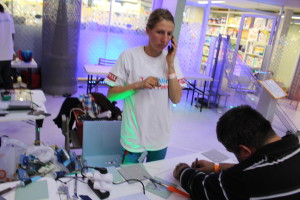 Solar cell soldering workshop