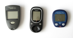 Three different glucose meters